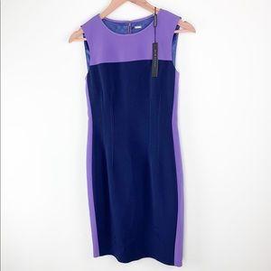 NWT Elie Tahari color block midi dress